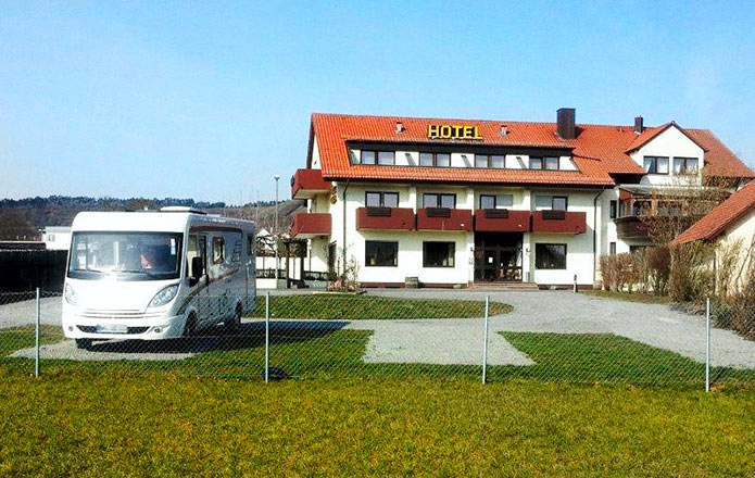motorhome pitch spot in Hammelburg